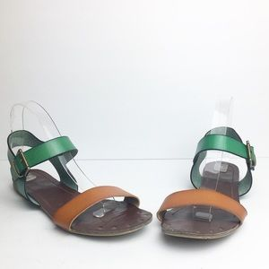 SZ 9 Two Tone & Two Strap Mossimo Sandals
